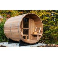 Custom circular dry heat sauna cabins for home / garden / green roofs Manufactures