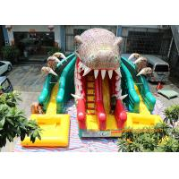 Buy cheap Dinosaur Water Park Commercial Inflatable Slide With Pool 6 * 4.5 * 5m from wholesalers