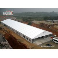China 20 x 50m Second Hand Marquee Steel Frame PVC Fabric Sidewalls And Clear Windows on sale
