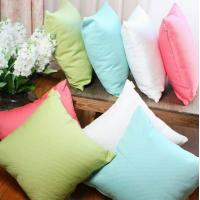 Sofa Solid color dyed cotton cushion,couch decorative knitted summer cooling cushion cover Manufactures