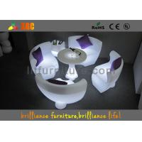 Colored Glowing Furniture LED Sofa By Remote Control & Rohs Manufactures