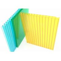 Colored Twin Wall Polycarbonate Sheet 10mm ThickTwo Layers 1.2g/cm3 Desity Manufactures