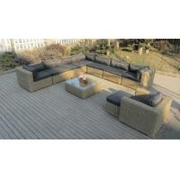 Round rattan wicker sectional outdoor sofa set with comfortable cushion Manufactures