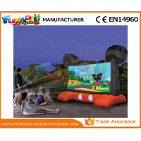 China Mickey Mouse Advertising Inflatables / Inflatable Movie Screen Black And Red Projection Cloth on sale