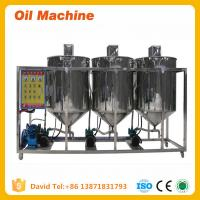 China high quality small scale cooking oil refinery machine Small Capacity Edible Oil Refinery on sale