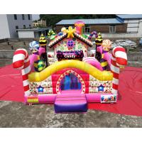 China Colorful Candy Moonwalk Bounce House Slide Inflatable Kids Playground on sale