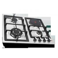 China Built In Combined Gas And Electric Hob Stainless Steel Surface Material on sale
