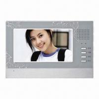 Color Video Door Phone in European Style Design, with CE-certified and 7-inch Color TFT-LCD Screen Manufactures