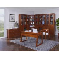Nanmu solid wood Home office study room furniture set by Tall storage bookcase cabinet and office reading desk Chair