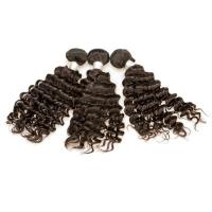 China Virgin Human Hair Extension Raw Brazilian Hair Material Big Curly 3 Bundles One Head on sale