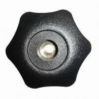 Knob with Through Hole, Made of PA/Fiberglass, Injection Molding and Brass Insert Manufactures