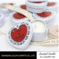 China Heart Shaped Travel Tin Soy Candles With Red Printing Logo / One Cotton Wick on sale
