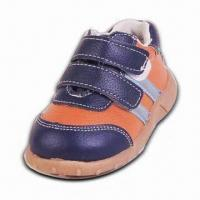 Boy's Leather Shoes with TPR Outsole, Mesh Lining and Insole Manufactures