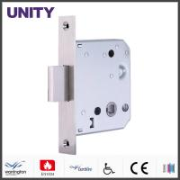 Bathroom Door Locks PVD Black Finish With 38mm Bolt Through Compatibility Manufactures