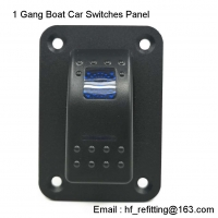China LED 1 Gang Boat Car Switches Panel Aluminum Dash 5 Pin ON/OFF Toggle Circuit Breaker Marine RV Caravan on sale