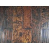 Handscraped birch engineered hardwood flooring Manufactures