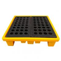High Density Poly 4 Drum Spill Containment Pallets Leak Proof For Drum Tank Manufactures