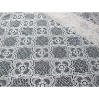 China Knitted Tulle Cotton Nylon Lace Fabric Ivory For Pajama Eco-Friendly SYD-0007 on sale