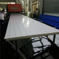 1050-50-0.4mm wide red steel up and 0.35mm greywhite down eps sandwich roof panel