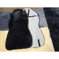 sheepskin car seat cover   color: grey camel  champagne natual