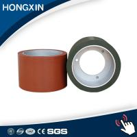 China Aluminum core steel core red color silicone rubber covering roller on sale