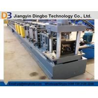 China High Speed 10-15 m/min Storage Rack Roll Forming Machine PLC Colored Touch Screen on sale