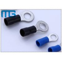 Corrosion Resistance Blue / Black Copper Ring Terminals A.W.G. 14 - 12  / 16-14 Manufactures