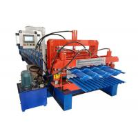 China PLC Control Glazed Tile Forming Machine , Trapezoidal Sheet Roll Forming Machine on sale