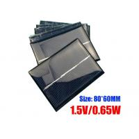 60 X 80mm Dimension Polycrystalline Silicon Solar Panels For Portable Garden Light Manufactures
