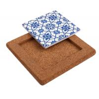 Factory Wholesale Price 25*25cm Cork Base for Ceramic Tile, Coaster and Trivet Manufactures