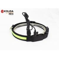 China Waterproof USB Rechargeable LED Dog Collar Nylon Dog Neck Strap With LED Flashing Light on sale