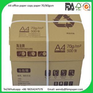 China Sample free Original Paper Copy A4 A3 Paper 80 Gsm 75 Gsm 70 Gsm Copy Paper on sale