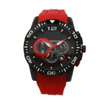 Multifunction Red Silicone Strap Watches Sport Wrist Watch OEM