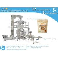 China Stand-up quad bag vertical packaging machine for oatmeal cornmeal grain granule rice snack on sale