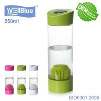 Potable PET Alkaline Water Filter Bottle 550ml Capacity Eco Friendly Daily Use Manufactures