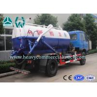 Electric Control Carbon Steel Vacuum Sewage Suction Trucks With ISO Approved Manufactures