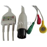 China 3 Lead TPU ECG Patient Cable IEC One Piece Snap IEC on sale