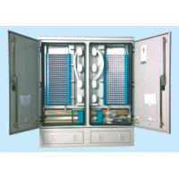 Small Volume 576 Cores Outdoor Fiber Cabinet SMC Cross Connect Cabinet For Storage / Dispatch Manufactures