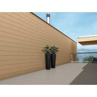 Sandalwood / Coffee Brushed WPC Wall Cladding For Screened Porch / Garden Shed Manufactures