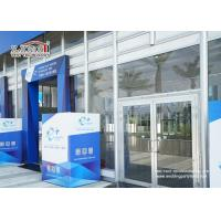 Transparent Outdoor Exhibition Tents Heat Resistant Glass Wall Manufactures