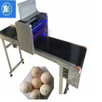 Buy cheap Large Characters Egg Batch Coding Machine With USB External Database Printing from wholesalers