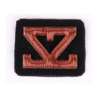 China Custom Embroidered Name Patches Hand Embroidered Bullion Badges on sale