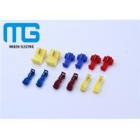 12 - 10 AWG Wire Connectors Yellow Color Quick Splice Wire Crimp Terminals Open Barrel Terminals Manufactures