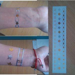 China Gold Silver Metallic glitter body tattoo stickers Jewelry for women on sale