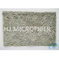 China Plush Big Chenille Rubber Backing Non-Slip Microfiber Kitchen Floor Mat Grey on sale