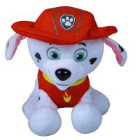 China Red Hat Christmas Stuffed Dog , Customized Christmas Dog Stuffed Animal on sale