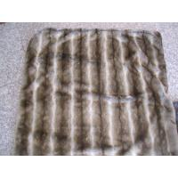 China Grade A Faux Fur Blanket Striped Gray Chinchilla With Micro Mink Back on sale
