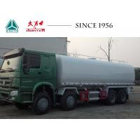 China HOWO 8X4 Gasoline Tanker Truck Tank Top Roll Protection With Integrated Pump on sale