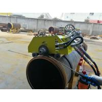 China Hydraulic Bevel Cutting Machine For Pipes , 12 Inch Pipe Cutter And Beveler on sale