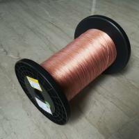 China 5600v Taped Self Bonding Wire , 0.05 X 120 High Frequency Flat Litz Wire on sale